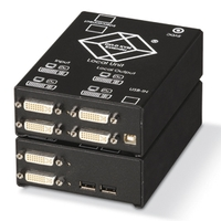 ACS4422A-R2-SM: (4) Single Link DVI-D, USB HID, Audio, RS-232