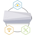 802.11ac Dual-Radio 2x2:2 access point with internal antennas